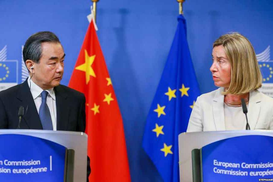 نشست خبری موگرینی و وزیرخارجه چین با موضوع ایران