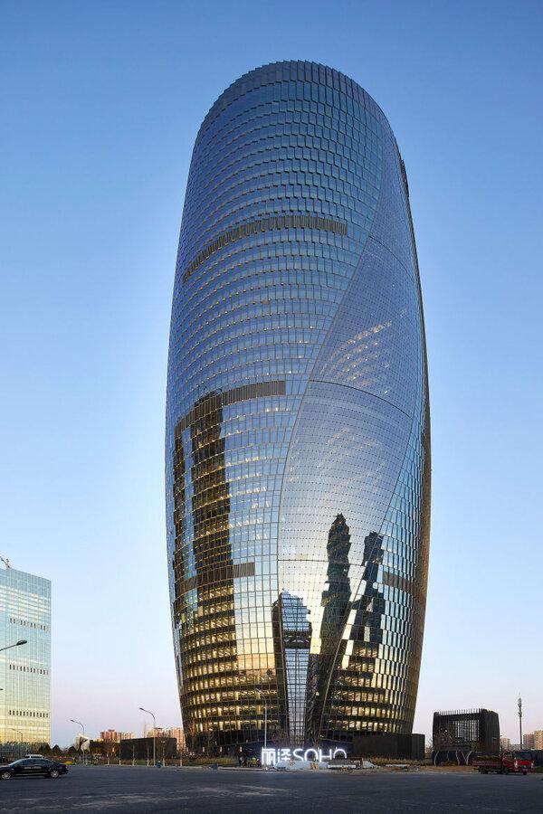 فیلم ، افتتاح برج لیزا سوهو در پکن: ساختمانی با بلندترین آتریوم دنیا
