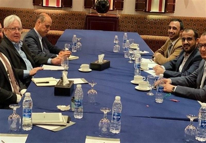 ملاقات سخنگوی جنبش انصارالله یمن با نماینده سازمان ملل