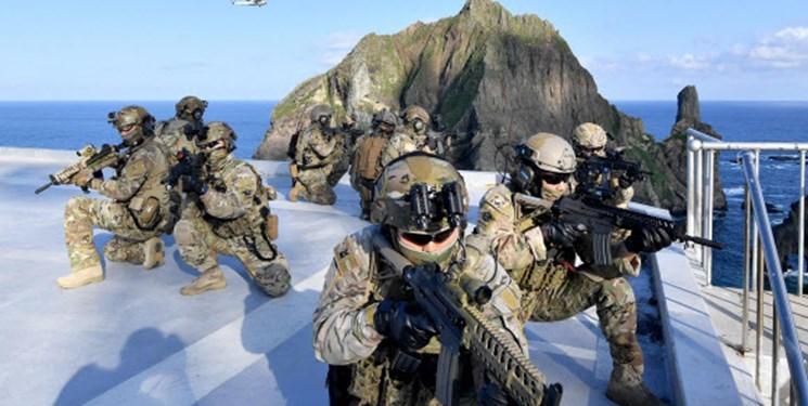 رزمایش کره جنوبی در جزایر مورد مناقشه با ژاپن یک روز بعد از ملاقات آبه-مون