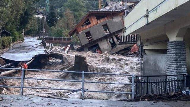 وقوع سیلاب و طوفان مرگبار در مناطقی از فرانسه و ایتالیا
