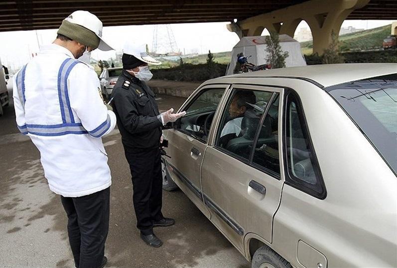 جریمه 14 هزار راننده و سرنشین خودرو به دلیل عدم استفاده از ماسک