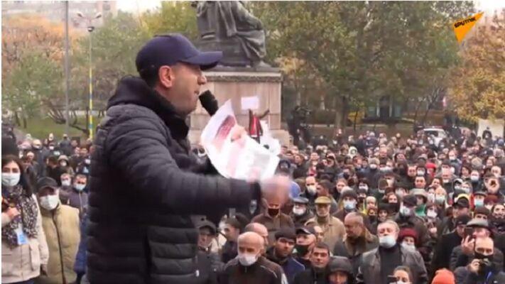 اعتراضات برای برکناری پاشینیان در ارمنستان