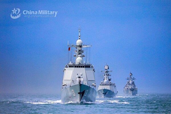 برگزاری رزمایش نظامی چین در آب های سرزمینی