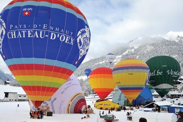 فستیوال بین المللی بالن ها در سوئیس، عکس