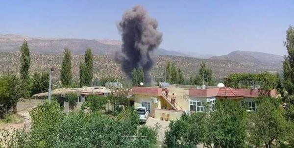 آتش سوزی در شمال عراق در نتیجه حملات ترکیه