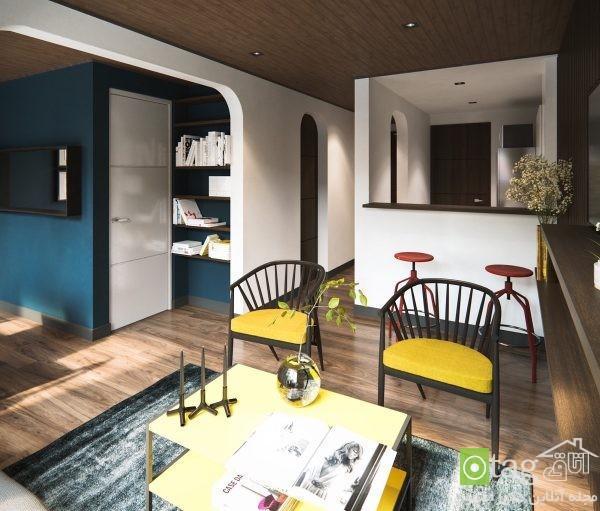 دکوراسیون آپارتمان جمع و جور و نقلی همراه پلان کف سازی